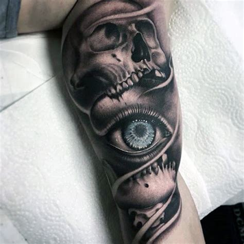 eye tattoo with skull top 100 eye tattoo designs for men a complex look closer