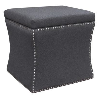 Nailhead Storage Ottoman Accent Furniture Nailhead Storage Ottoman Gray Target