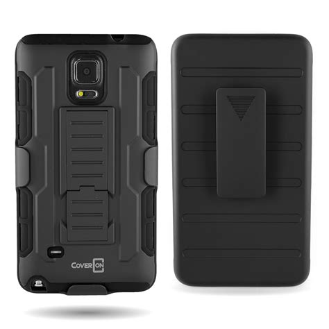 belt clip holster and kickstand hybrid combo for samsung galaxy note 4 ebay