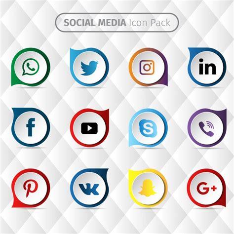 design icon free vector social media icon design vector free download
