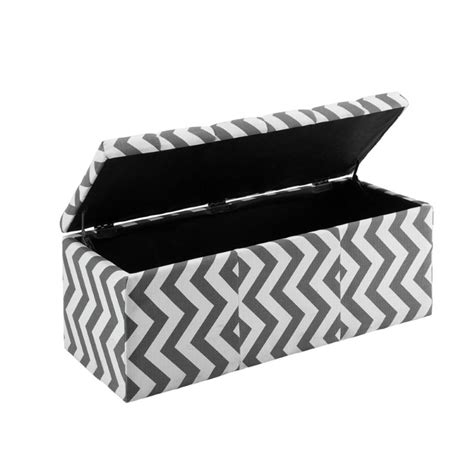 ottomans in america furniture of america laina upholstered storage ottoman in