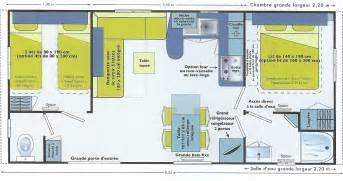 4 Br House Plans mobil home 2 chb 4 6 pers