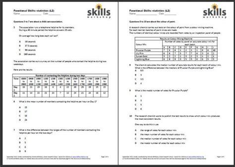 functional maths data handling skills workshop