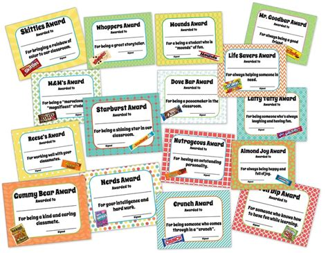 theme names for nightclubs classroom end of the year awards candy themed candy