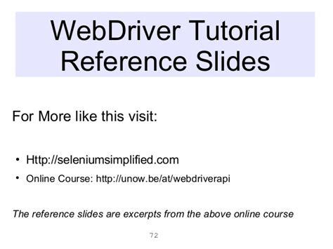 tutorial php webdriver selenium clinic eurostar 2012 webdriver tutorial