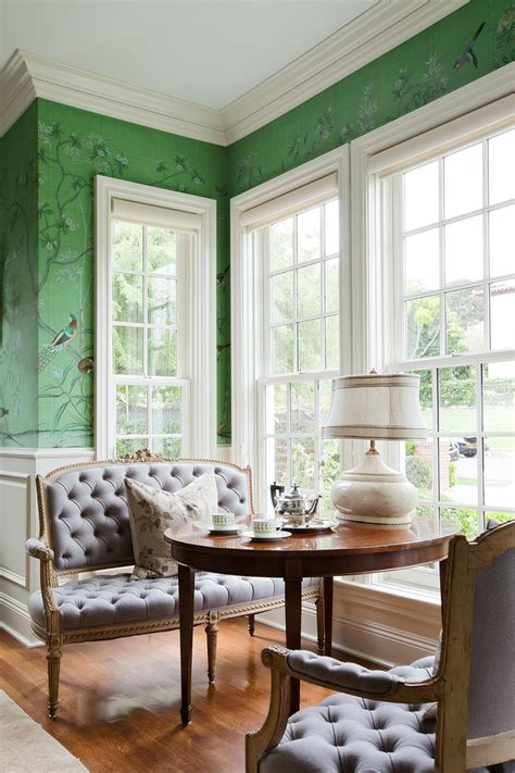 green wallpaper room cool chinoiserie wallpaper trend los angeles traditional