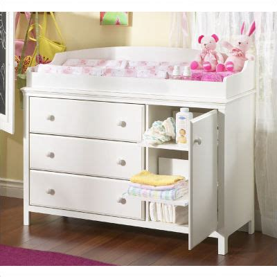 Baby Change Table Drawers South Shore Cotton 3 Drawer Changing Table 3250333