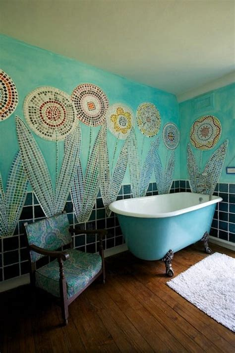 mosaic bathroom decor 15 captivating bohemian bathroom designs rilane