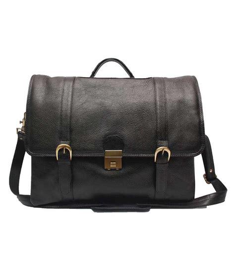 C Comfort by C Comfort Sleek Office Bag Black Leather 15 Inch Laptop