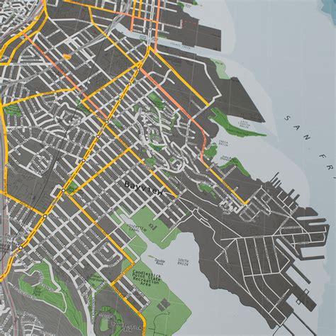 san francisco map paper san francisco map version 2 paper the future
