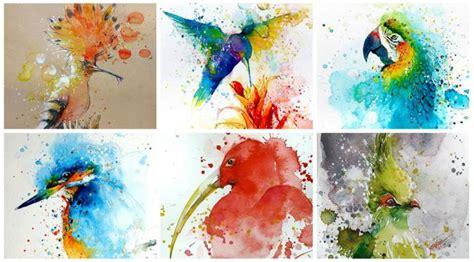 cara membuat warna coklat dengan cat air kala percikan cat warna warni jadi lukisan indah global