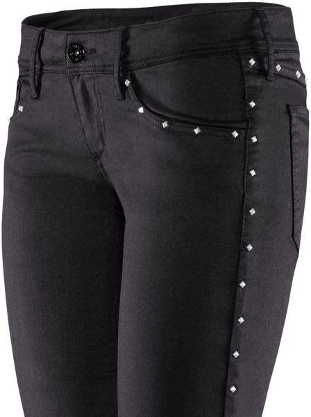 hm super skinny super  jeans  black denim lyst