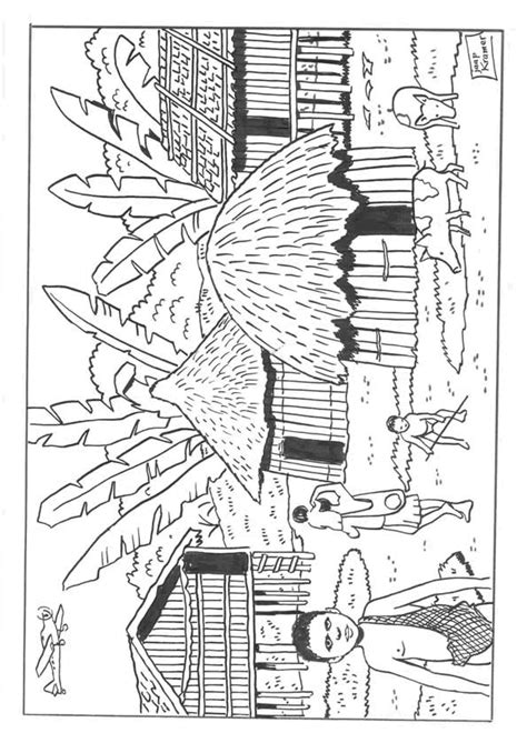 Hutte Gauloise Dessin by Coloriage Africain