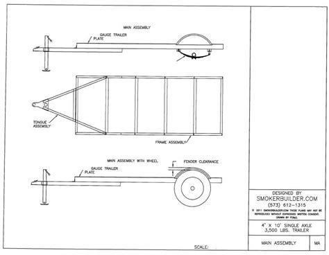 offroad teardrop cer 4 by 10 trailer 79 00 smoker plans build a smoker