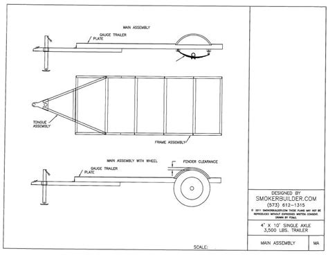 4' by 10' trailer   $79.00 : Smoker Plans, Build a Smoker
