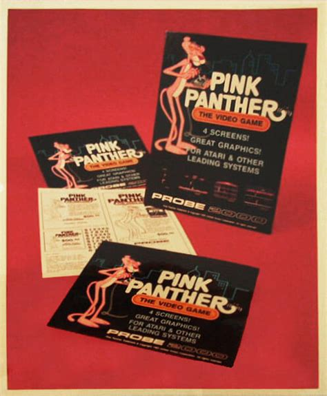 Ad Mats by Odyssey2 Homepage Image Pink Panther Ad Mats Photo From 1983 Summer Ces June 1983