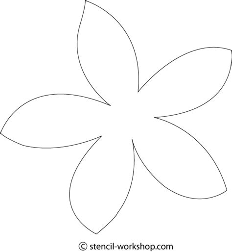 Frangipani Stencil Tattoo Ideas Pinterest Stenciling Hawaiian Flower Template
