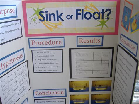 sink or float science fair project the ricker report science fair