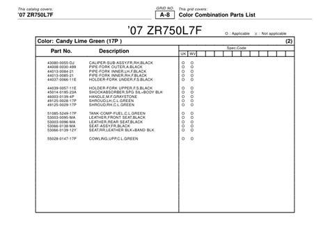 Cover Fr Fork Side Locean Green M Shogun 110 Xsd Sgp 51882 23f00l00 manual z750