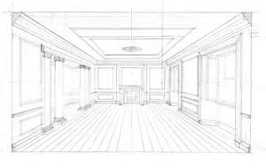 Room Sketch Free gallery for gt pencil drawing room