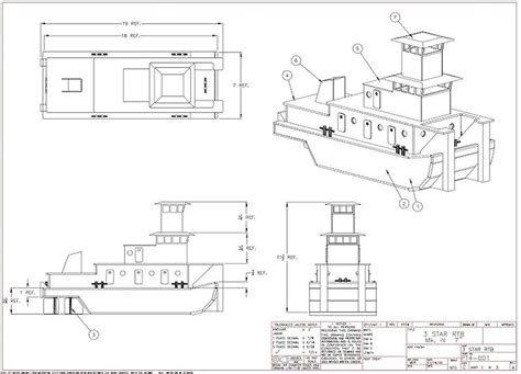 tow boat drawing river tow boat plans aerofred download free model