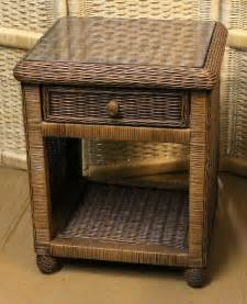 Rattan Nightstand Hanover Wicker Nightstand 1 Drawer All About Wicker