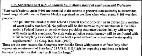 clean water act section 401 wolfenotes com 187 as the christie dep rubber sts