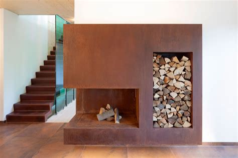 A Fireplace Store Modern Fireplace Wood Store Contemporary Home In Berlin