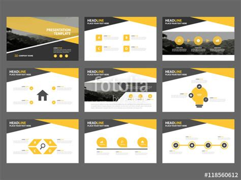 design proposal elements quot yellow abstract presentation templates infographic