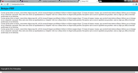 cara membuat header footer html cara membuat footer tetap berada di bawah dengan css dwi