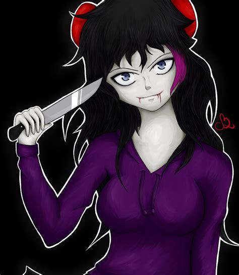 jeff the killer x chica the killer by creepypso on deviantart