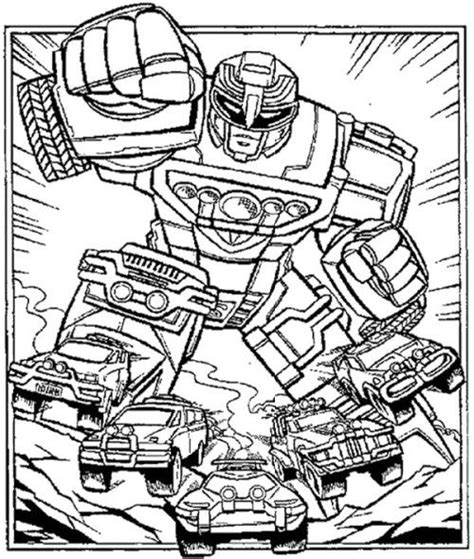 power rangers robot coloring pages robot power rangers turbo coloring page adult