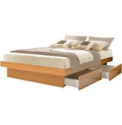 Platform Bed Drawers King Platform Bed With 4 Drawers Contempo Space