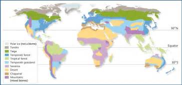 biomes map geography biome map