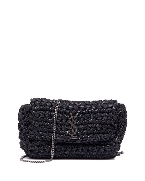 saint laurent kate medium ysl monogram raffia crossbody