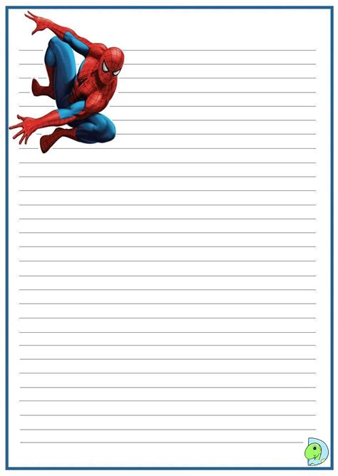 Writing Paper Spider Elementary Abcteach Search Results For Handwriting Paper Template Calendar