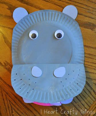 Hippo Paper Plate Craft - paper plate hippopotamus paper paper plates and