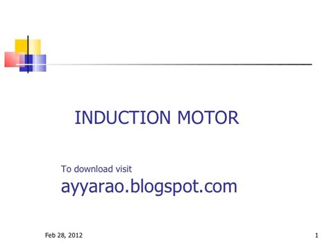 induction motor ppt induction motor construction