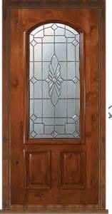 Wooden Front Door With Glass Panels Prehung Single Door 80 Wood Alder Versailles 2 Panel Arch Lite Glass Mediterranean Front