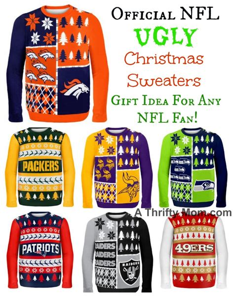 nfl officially licensed ugly christmas sweaters great gift