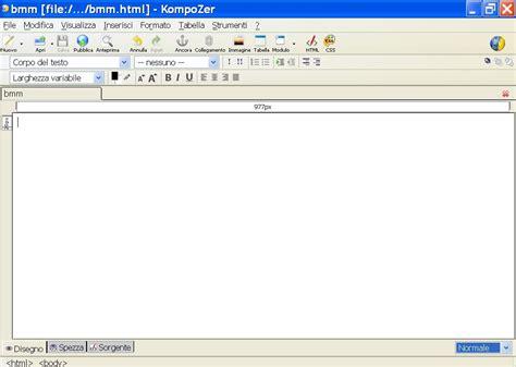 kompozer web design html editor kompozer l editor html