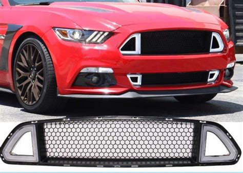 2015 mustang led lights 2015 2017 mustang led drl lower grille white running