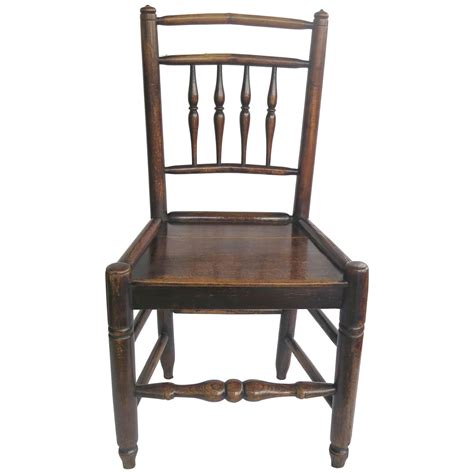 1800s Furniture by Late 18th Century Country Side Chair Spindle Back Elm And