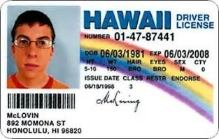 mclovin id template license to quot drive quot innovative