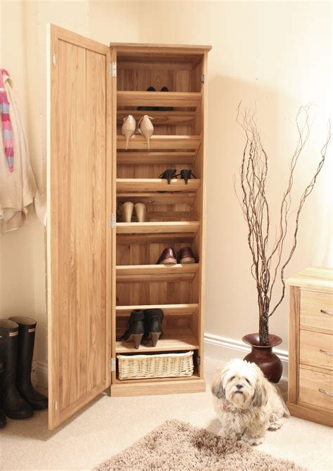 Brown Shoe Closet by Shoe Storage Cabinet Oak Manicinthecity