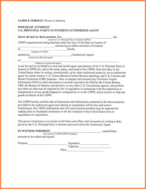 3 simple power of attorney form marital settlements