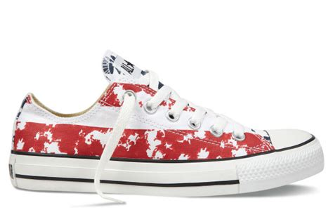 Sepatu Converse All Low Bluepink the newest low tops converse american flag white blue chuck all converse zero