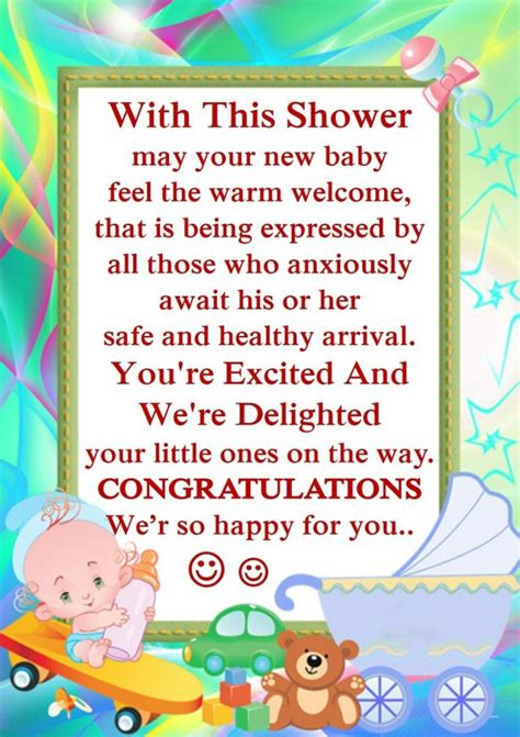 Baby Shower Greeting Card Wishes
