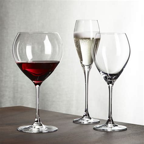 wine glasses silhouette wine glasses crate and barrel