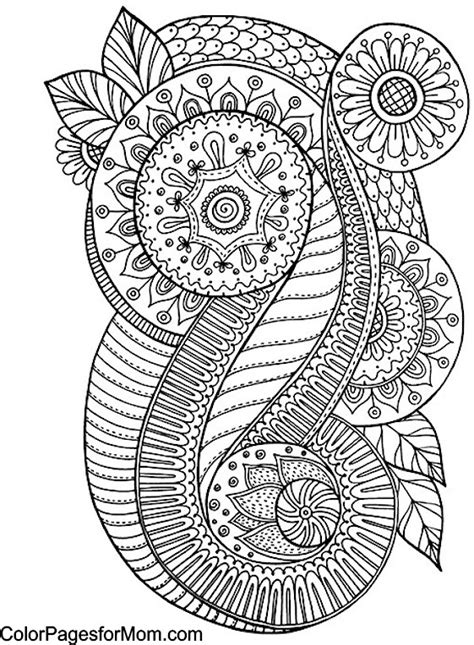 abstract paisley coloring pages paisley coloring page 55